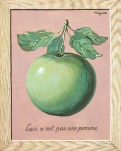 « Ceci n'est pas une pomme », René Magritte (1959). Cea/Flickr, CC BY